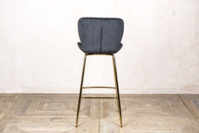 back of black bar stool
