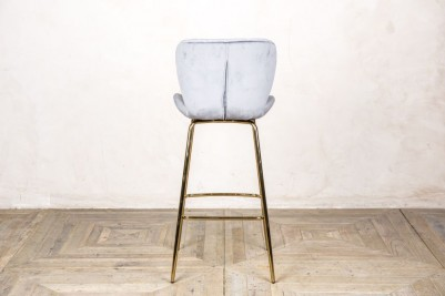 back of cool grey bar stool