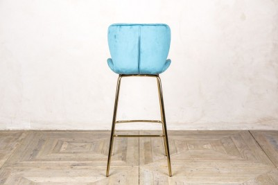 back of ocean teal bar stool