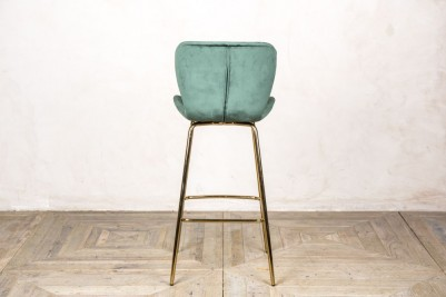 back of pine green bar stool