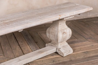 limed dining bench