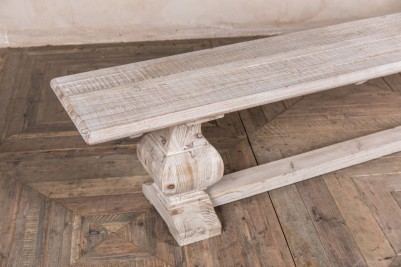 limed elm dining bench