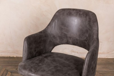 slate faux suede chair