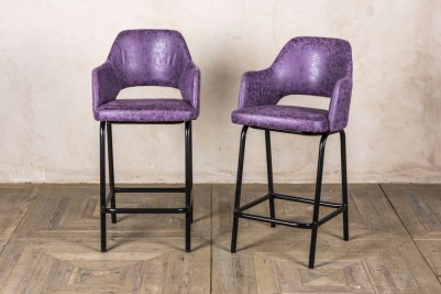 purple bar stools