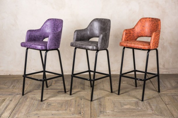 Lincoln Upholstered Seat Bar Stools