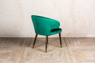 green retro style dining chair