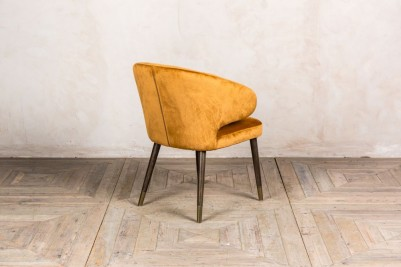 mustard velvet dining chair