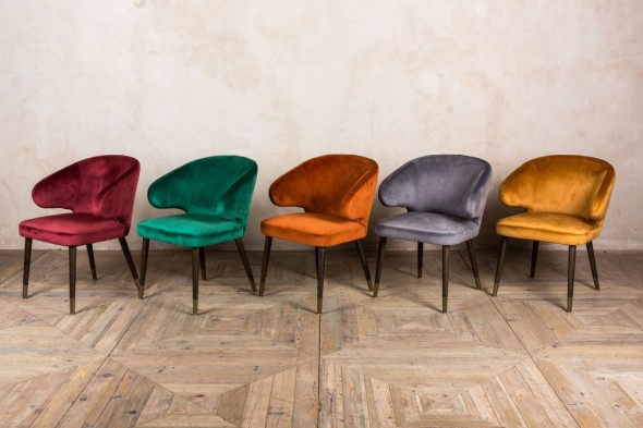 Lorient Retro Style Dining Chairs