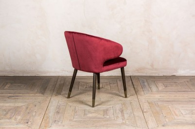 wine red dining chair
