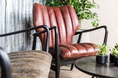 retro style red leather chair