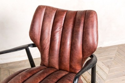 vintage style leather armchair