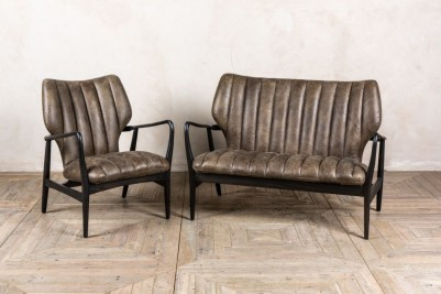 mid century style leather suite