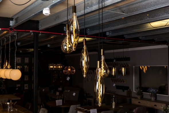 Lunar Antique Brass Pendant Light Range