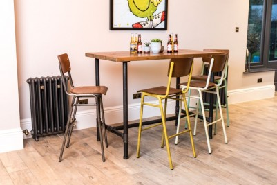 luxor wooden and metal bar stools