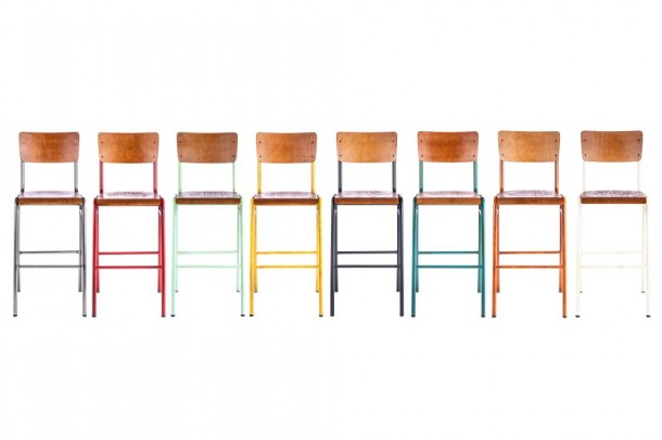 Luxor Wooden and Metal Bar Stool