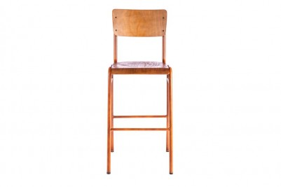 orange luxor bar stool