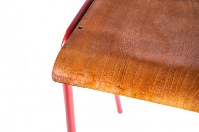red luxor with wooden seat