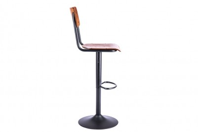 sleek metal swivel stool