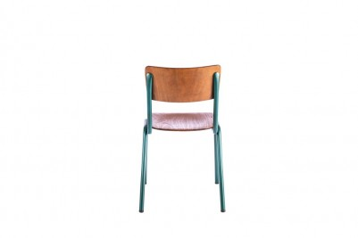 back of green luxor stacking chair