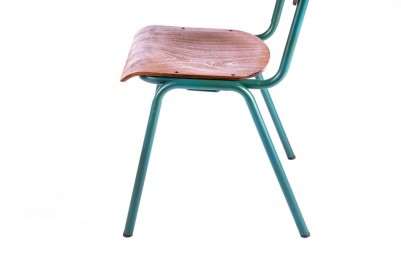 green luxor stacking chair