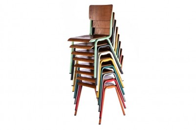 luxor colourful stacking chairs