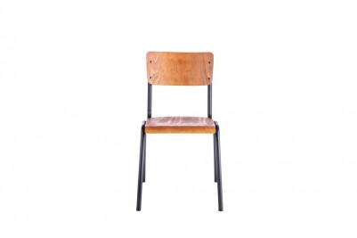 luxor stacking chair black