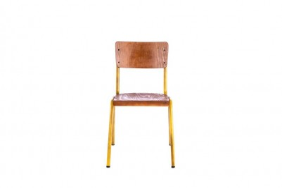 luxor stacking chair yellow