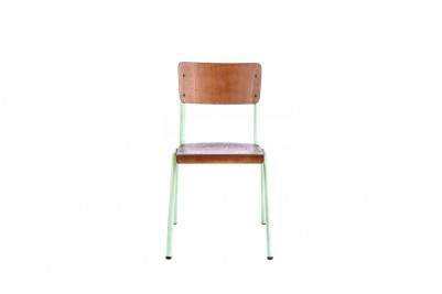 pale green luxor wooden stacking chair