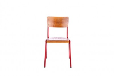 red luxor stacking chair
