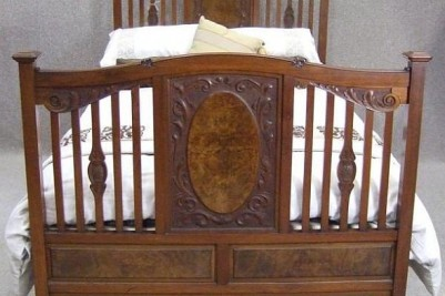 maginificent Victorian walnut double bed