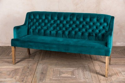 blue dining bench