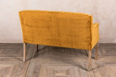 french style velvet bench