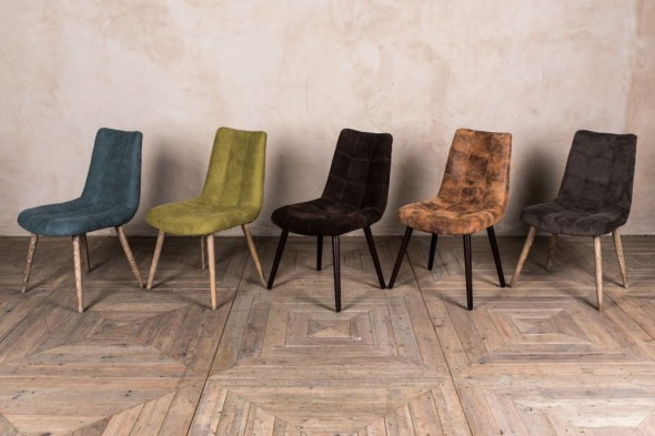 Metz Scandinavian Style Dining Chairs