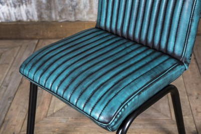 blue industrial style chair
