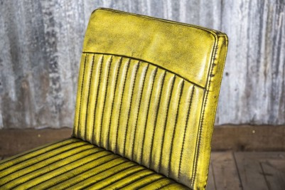 distressed yellow dining chair