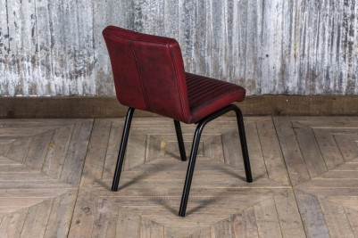 industrial style red dining chair