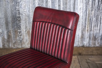 red industrial style chairs