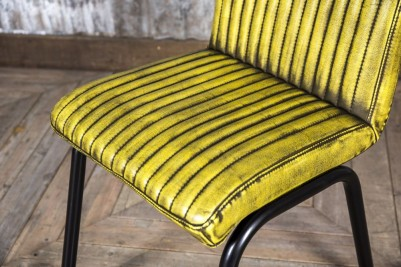 yellow industrial style chair