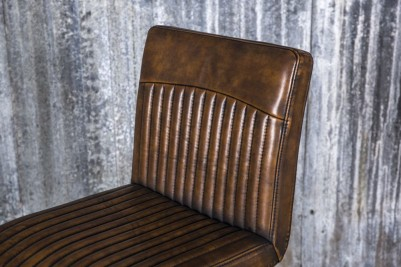 industrial style brown bar stool