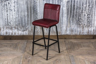 industrial style red stool