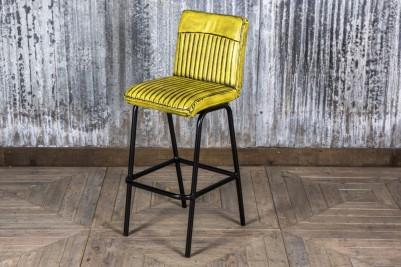 industrial style yellow bar stool