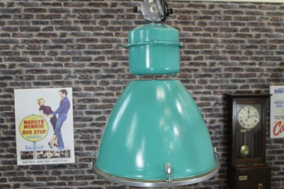 turquoise industrial light
