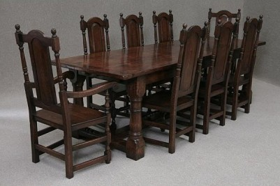 OAK REFECTORY TABLE ANTIQUE STYLE