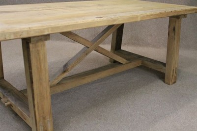 bleached pine reclaimed table