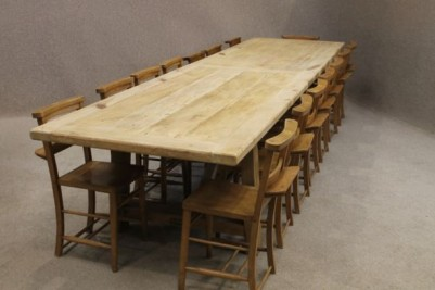 4m rustic reclaimed pine table