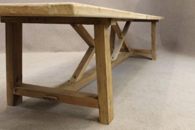 Large reclaimed pine table 12 foot