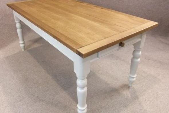 Country Farmhouse Oak and Pine Table