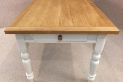 oak and pine farmhouse table
