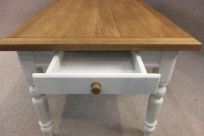 oak and pine table