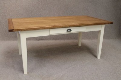 oak and pine French farmhouse table